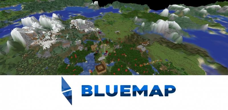 BlueMap - 3D карта вашего мира  сервера, объемная полноценная WEB карта [1.16.5] [1.15.2] [1.14.4]