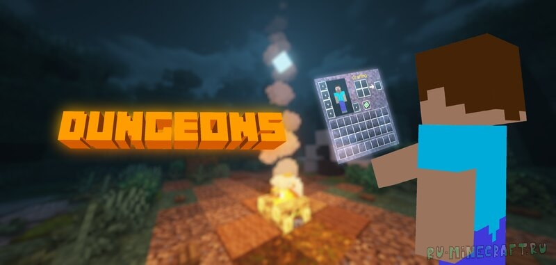 Minecraft Dungeons GUI & Music - меню и музыка из майнкрафт данженс [1.16.5] [2048x]