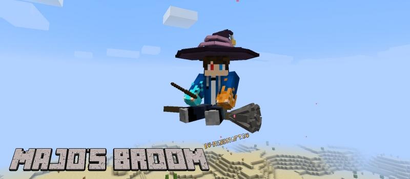Majo's Broom - летающая метла [1.16.5]
