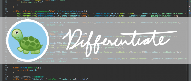 Differentiate - ядро для модов [1.17.1] [1.16.5]