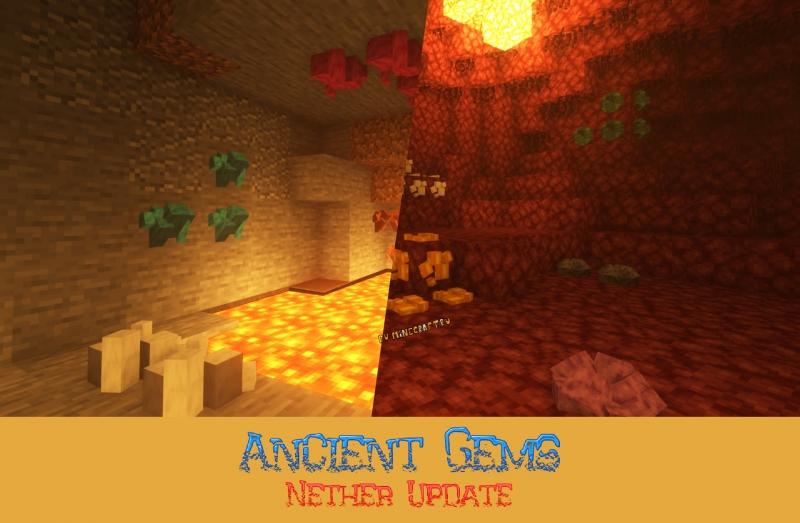 Ancient Gems - 3D руды, драгоценные камни, оружие, броня, инструмент [1.16.5] [1.15.2] [1.14.4] [1.12.2]