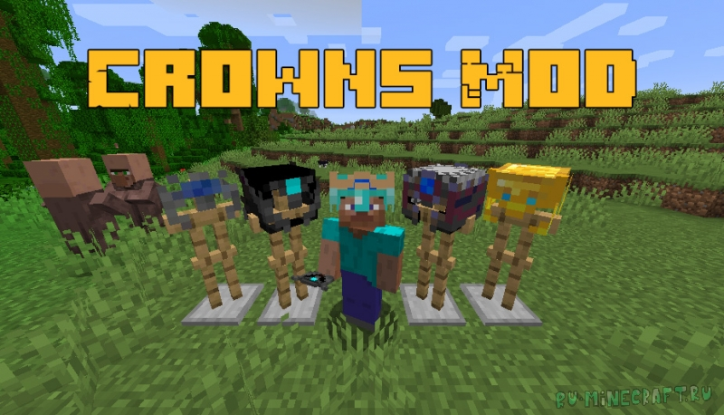 Crowns Mod - короны для игрока [1.16.5]