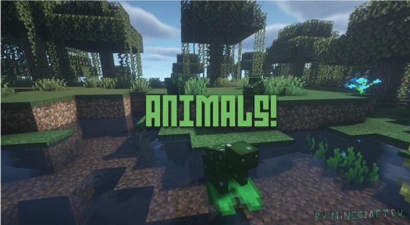 Animals! - новые реальные животные в майнкрафте [1.16.5]