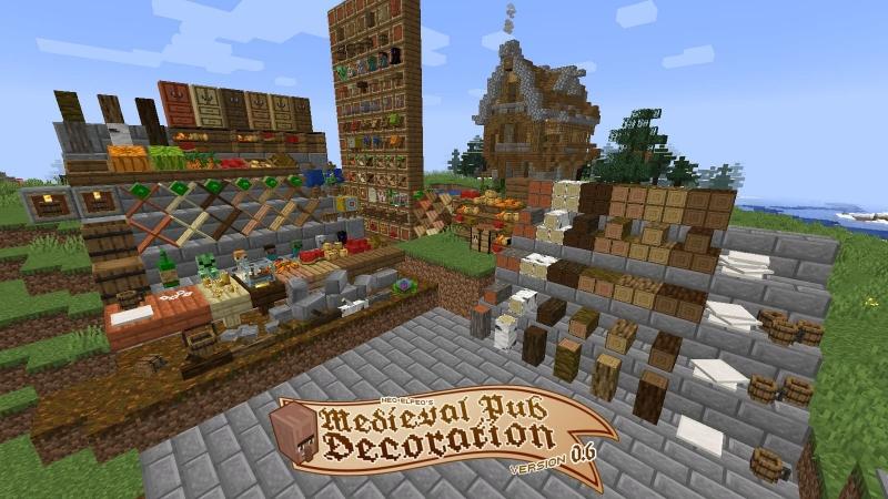 Nef's Medieval decoration - средневековый декор [1.16.5] [1.15.2] [1.14.4] [1.12.2] [1.7.10]