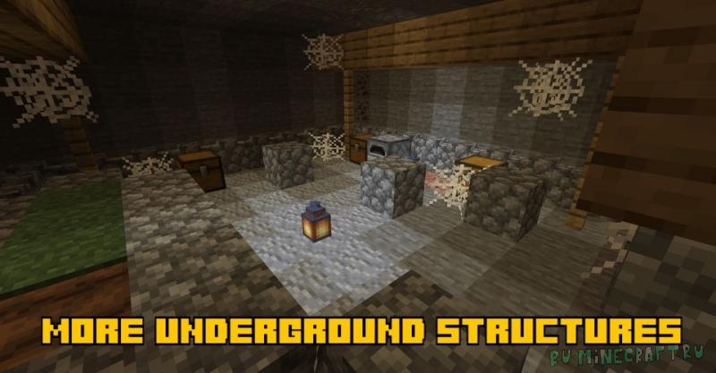 More underground structures - больше видов подземных структур [1.16.5] [1.15.2]