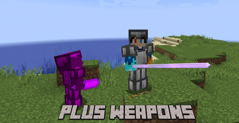 Plus Weapons - оружие, броня, чары для ПВП [1.16.5] [1.14.4]