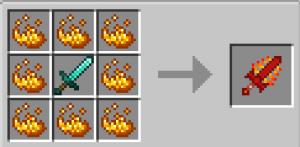 Four Elemental Swords - меч огня, земли, воды, воздуха, бога [1.17.1] [1.16.5]