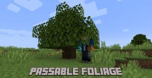 Passable Foliage - прохождение сквозь листву [1.16.5] [1.15.2]