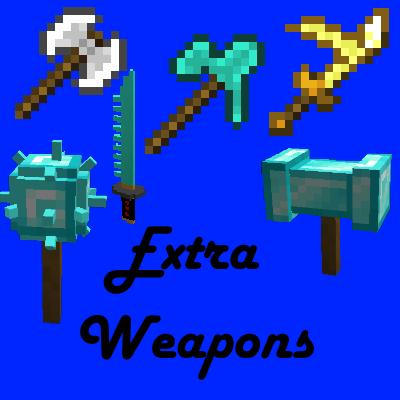 Extra Weapons - новое оружие и инструменты [1.16.5] [1.15.2] [1.14.4] [1.12.2]