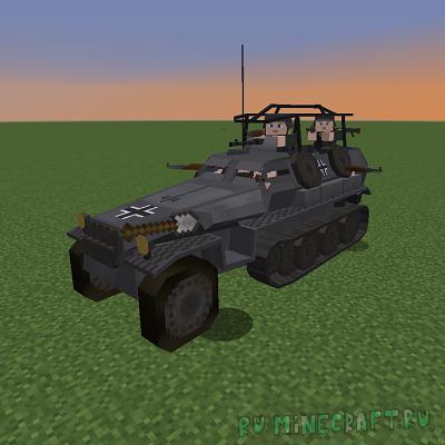 Flan's Mod WW2 Bots - боты, управляющие военной техникой [1.12.2]