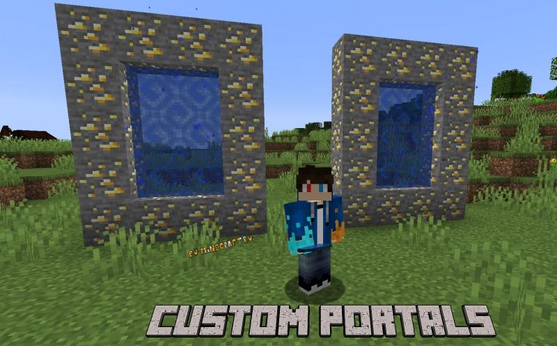 Custom Portals - порталы в мире игры [1.16.5]