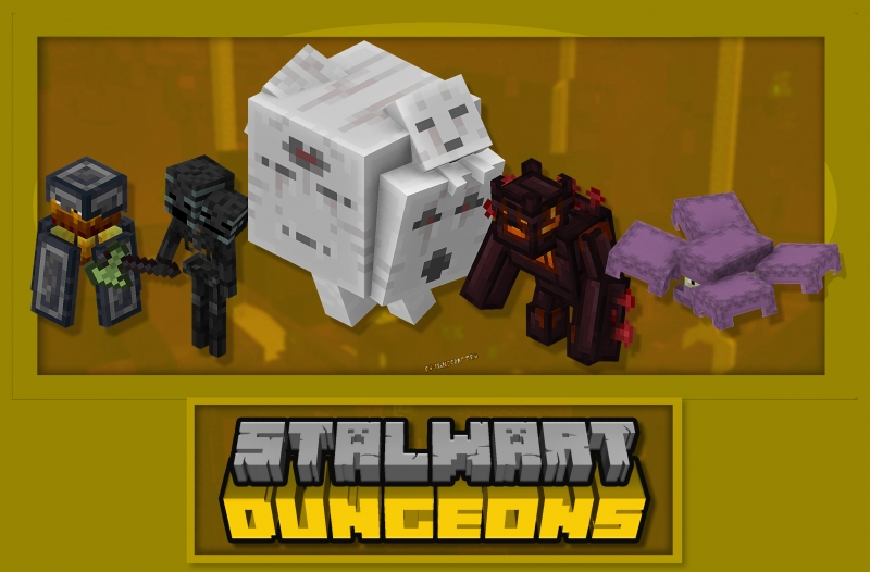 Stalwart Dungeons - новые сокровищницы для Нижнего мира и Края [1.16.5] [1.15.2]