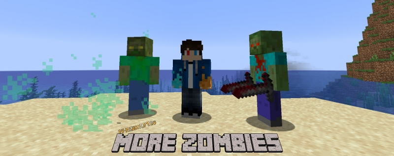 More Zombies - новые зомби, зомби босс, измерение [1.16.5] [1.15.2] [1.14.4]