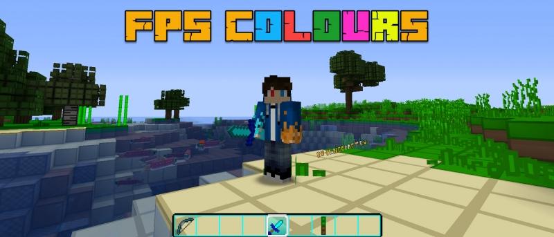 FPS COLOURS - Blue, Red, Green, Pink, Gold - разноцветные ФПС ПВП паки [1.16.5] [1.15.2] [1.12.2] [1.8.9]