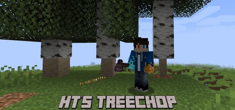 HT's TreeChop - реалистичная рубка деревьев [1.16.5] [1.15.2] [1.12.2]