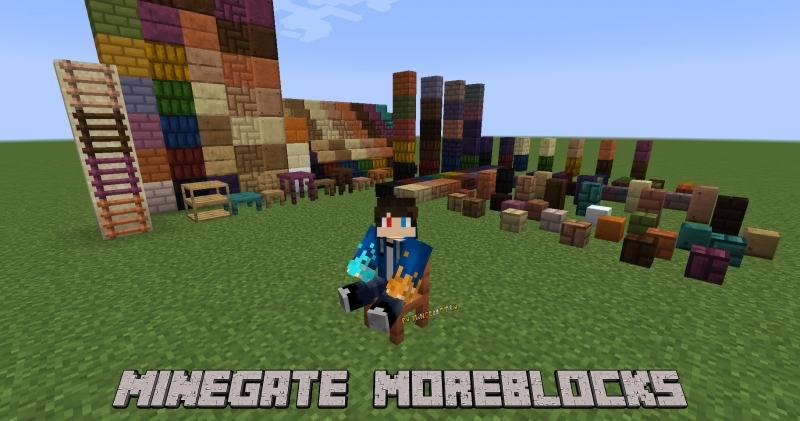 MineGate · MoreBlocks - больше видов стандартны блоков [1.16.5]