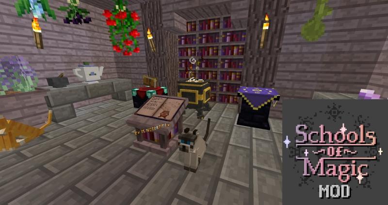 Schools of Magic Mod (Magic Kingdoms Mod) - новый глобальный магический мод [1.12.2]