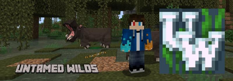 Untamed Wilds - реалистичные мобы животные, дикая природа [1.16.5]