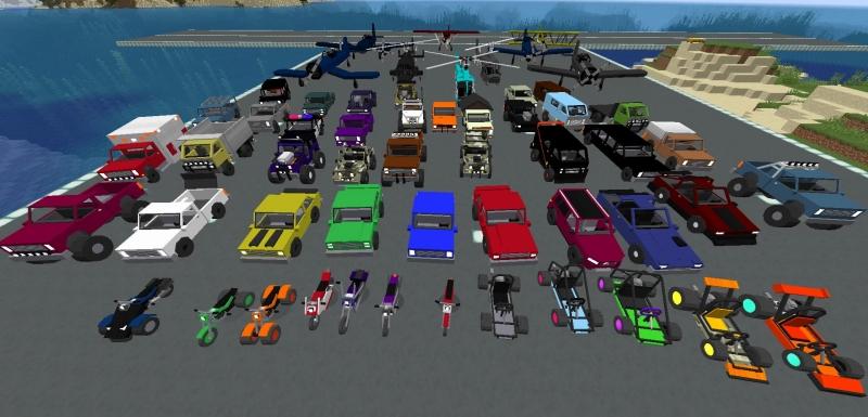 Chronokillers car and trucks PLUS - простой транспорт, машины, грузовики, вертолеты, самолеты [1.16.5] [1.15.2]