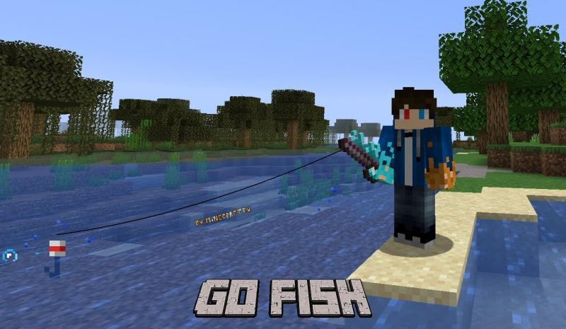 Go Fish - новые удочки, рыба, рандомный улов [1.16.5]