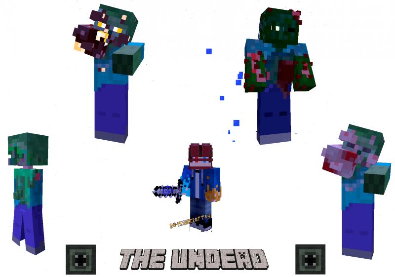THE UNDEAD - новые виды нежити, зомби, твари [1.16.5]