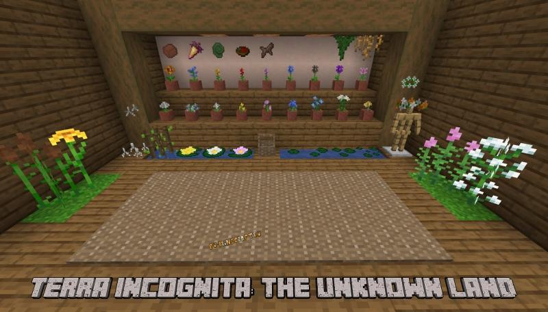 Terra Incognita: The Unknown Land - улучшение мира, цветы, бабочки [1.16.5]