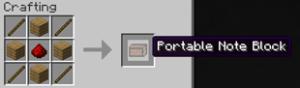 А так крафтится портативный нотный блок.