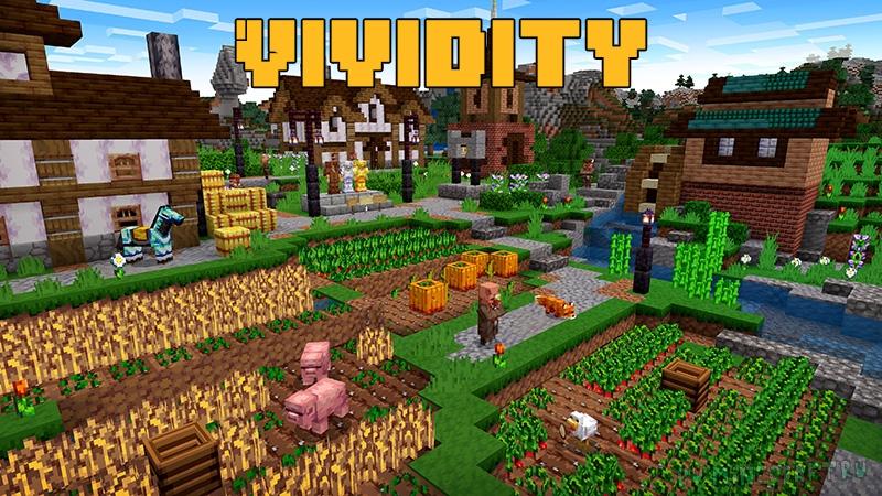 Vividity - яркий средневековый ресурспак [1.17.1] [1.16.5] [1.12.2] [1.8.9][16x]
