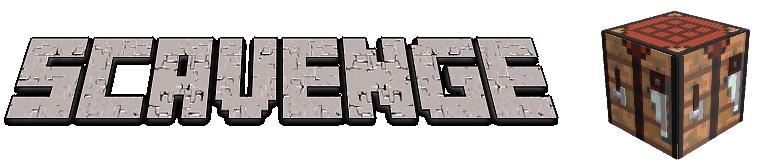 Scavenge - создание предметов ударом по блоку [1.16.5] [1.12.2] [1.11.2] [1.10.2]