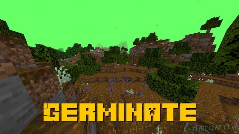 Germinate - новые биомы и цветы [1.16.5]