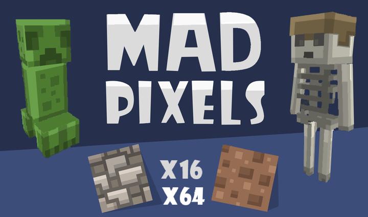 Mad Pixels - картонный текстурпак [1.17.1] [1.16.5] [1.15.2] [16x] [64x]