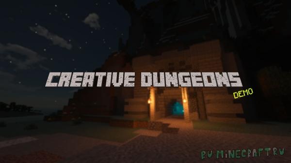 Creative Dungeons - карта для выживания с генерируемым подземельем [1.16+]