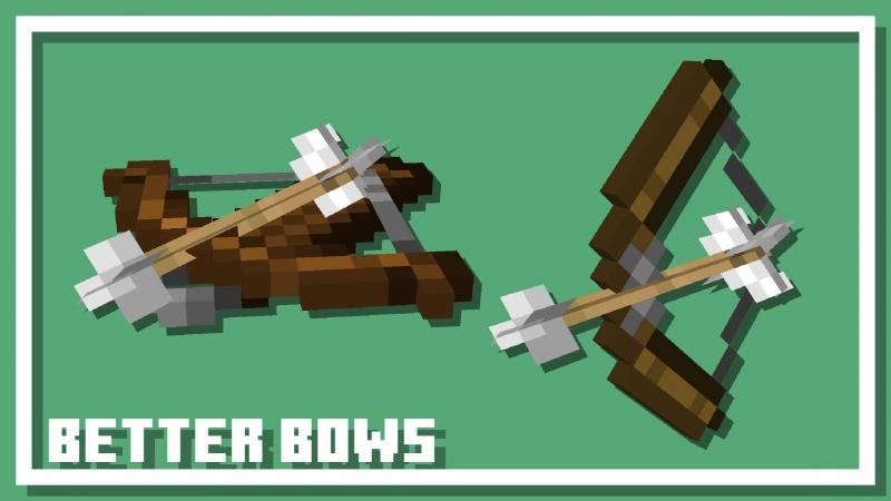 Better Bows and Crossbows - объемные, реалистичные стрелы [1.17] [1.16.5] [1.15.2] [1.14.4]