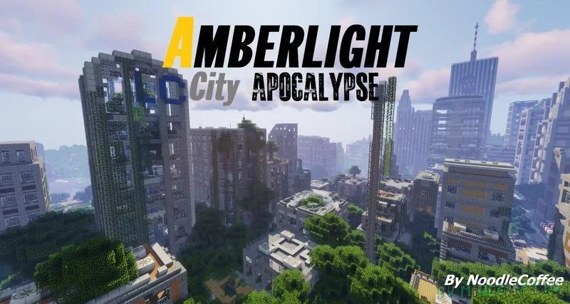 Amberlight City Apocalypse - проработанный заброшенный город [1.17.1] [1.16.5]