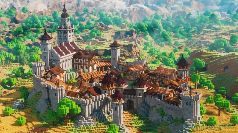 Villager Trading Castle - небольшой замок [1.17.1] [1.16.5]