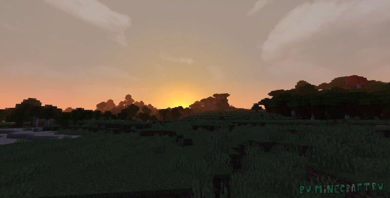 Pixel Reality - Atmosphere - красивое реалистичное небо [1.17.1] [1.17] [128x]