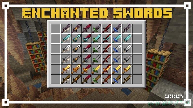 Enchanted Swords - новый вид зачарованных мечей [1.17.1] [1.16.5] [16x]