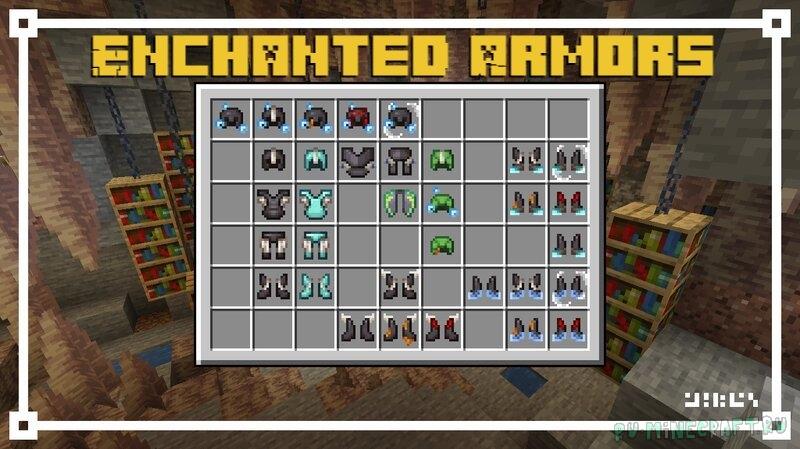 Enchanted Armors - новые текстуры зачарованной брони [1.17.1] [1.16.5] [16x]