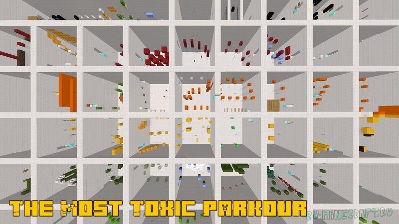 The Most Toxic Parkour - сложная паркур карта [1.17.1] [1.16.5]