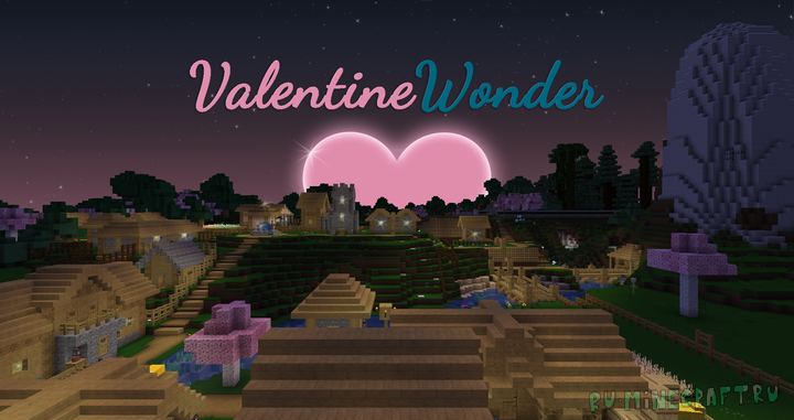 Valentine Wonder Eclipse - ресурспак с сердечками [1.17.1] [1.16.5] [1.15.2] [64x64]