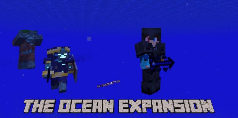 The Ocean Expansion - новые враги в океане, подводная броня [1.16.5]