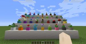 More Flower Pots - цветные горшочки [1.17.1] [1.16.5]