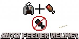 Auto Feeder Helmet - авто поедание еды [1.17.1] [1.16.5] [1.15.2] [1.14.4] [1.12.2]