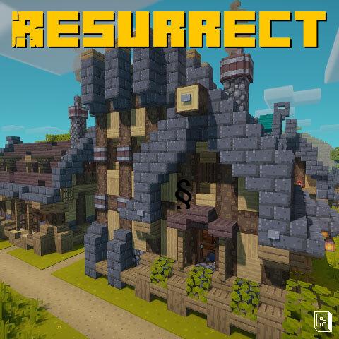 Resurrect - текстуры в стиле ретро игр [1.17.1] [16x]