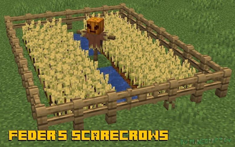 Feder's Scarecrows - пугала [1.17.1] [1.16.5]