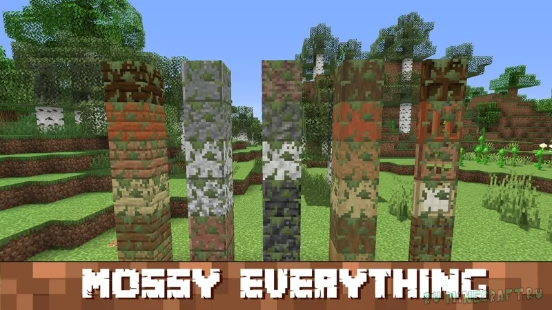Add moss to everything that you want - мох везде [1.17.1] [16x]