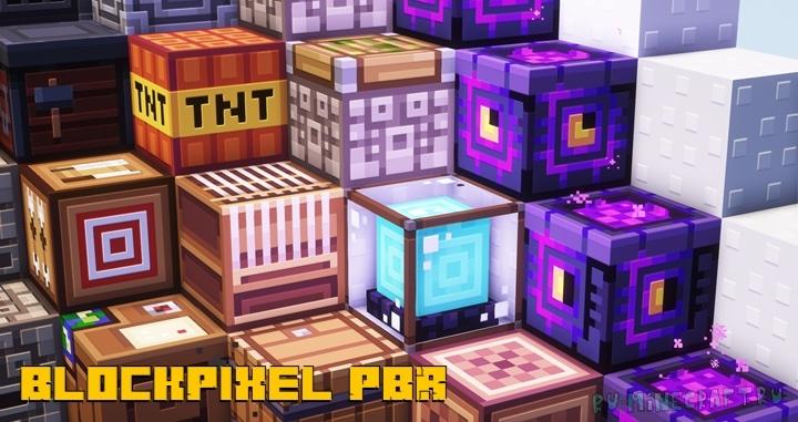 BlockPixel PBR - минималистичные 3д текстуры [1.16.5] [16x]