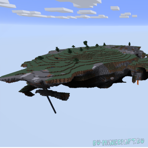 Improved Floating Islands - генерация обычного мира в энд стиле [1.16.5]