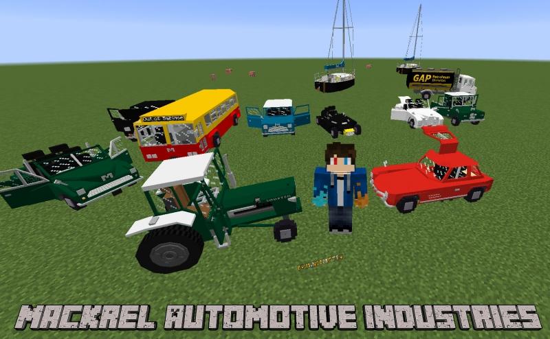 Mackrel Automotive Industries - машины, трактор, яхта [1.12.2]