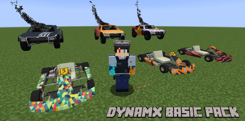 Dynamx Basic Pack - пак с реалистичными машинами [1.12.2]